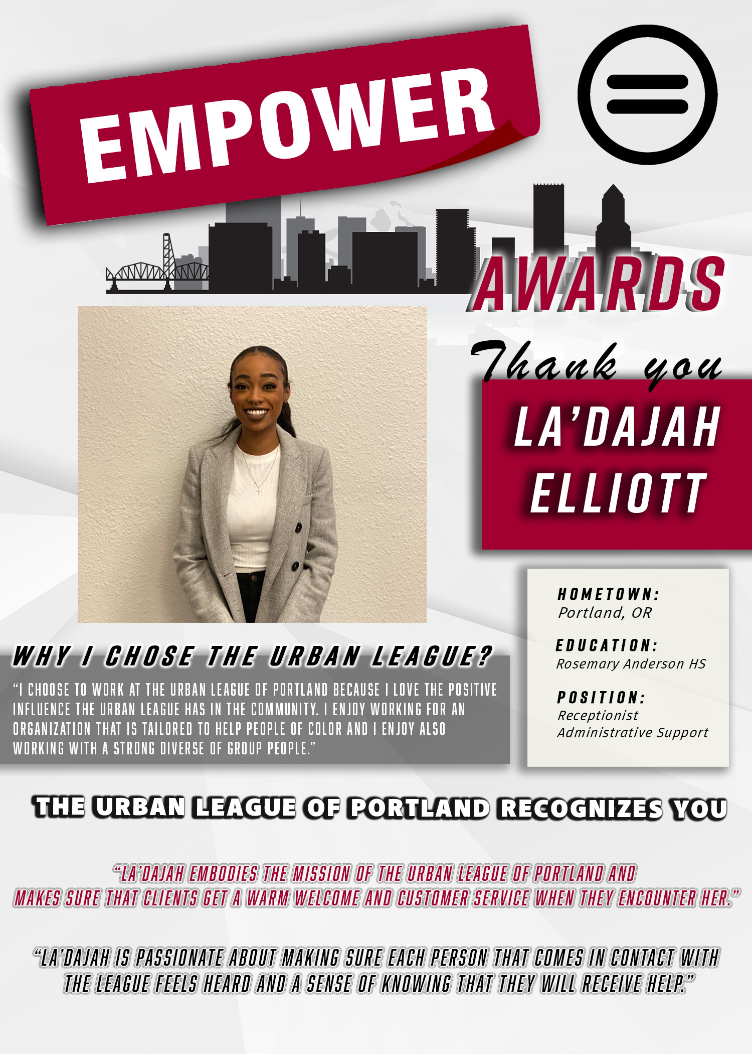 La'Dajah Empower Award